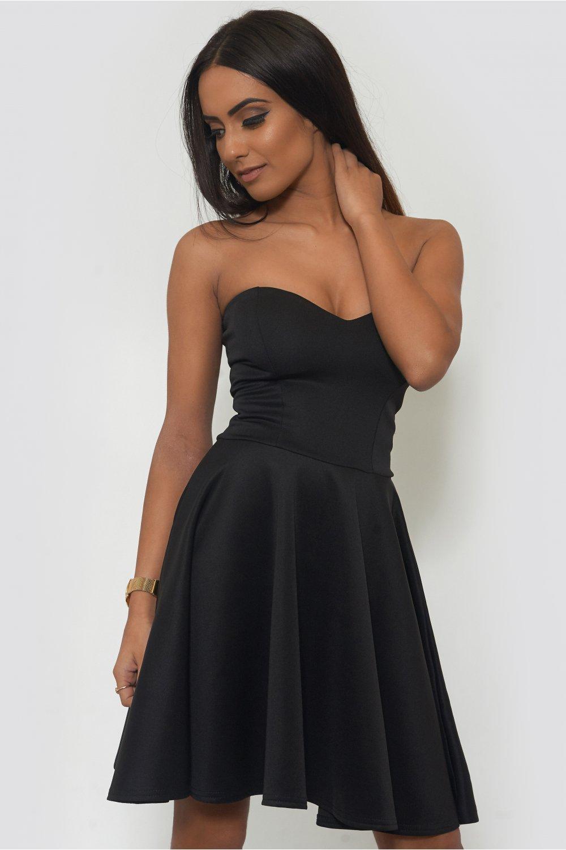 5415fec12283 Black Strapless Skater Dress - from The Fashion Bible UK