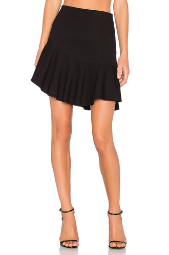 skirt mini skirt mini ruffle black