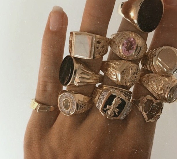 jewels gold gold ring streetwear signet gold filled ring gold plated ring