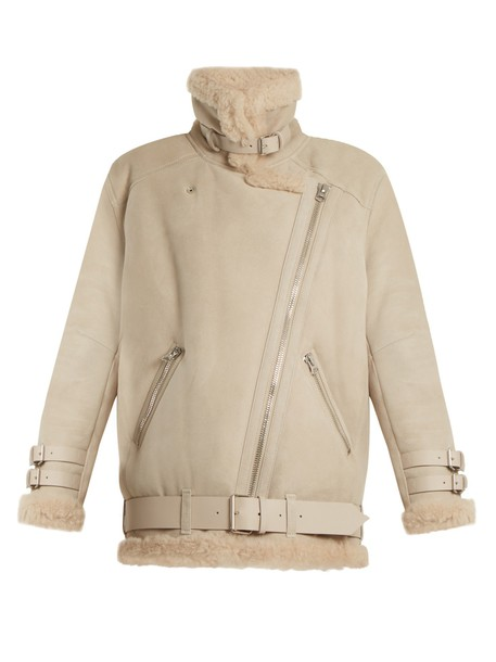 Acne Studios jacket shearling jacket oversized cream
