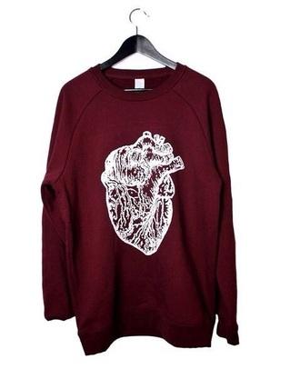 sweater vinous heart