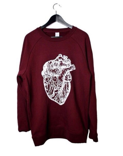 sweater vinous heart