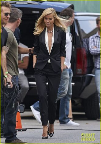 plunge v neck v neck white gwyneth paltrow suit sexy white top classy blouse