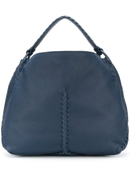 Bottega Veneta women leather blue bag