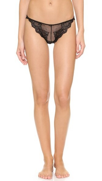 thong lace black underwear