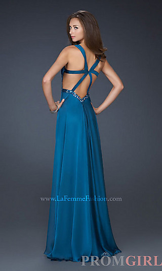 La Femme Gown, Prom Gown by La Femme, Long Evening Dress-PromGirl