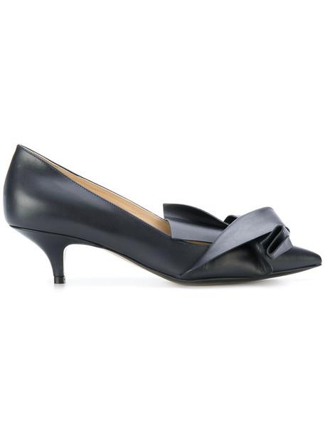 No21 women pumps leather blue shoes
