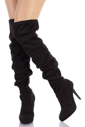 shoes,knee high boots,black boots,black knee boots,heel boots,heels,cute,black,short,overtheknee,knee,high,fashionista,sexy,boots,thigh high boots,high heels boots,jacket,tommy hilfiger,dress,burgundy dress,mini dress