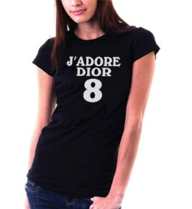 Amazon.com: jadore dior 8 fitted t shirt