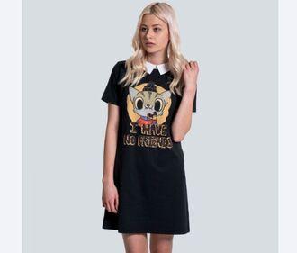 dress i have no friends drop dead black drop dead clothing peter pan collar peter pan collar dress