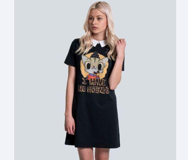 dress i have no friends drop dead clothing black drop dead clothing peter pan collar peter pan collar dress