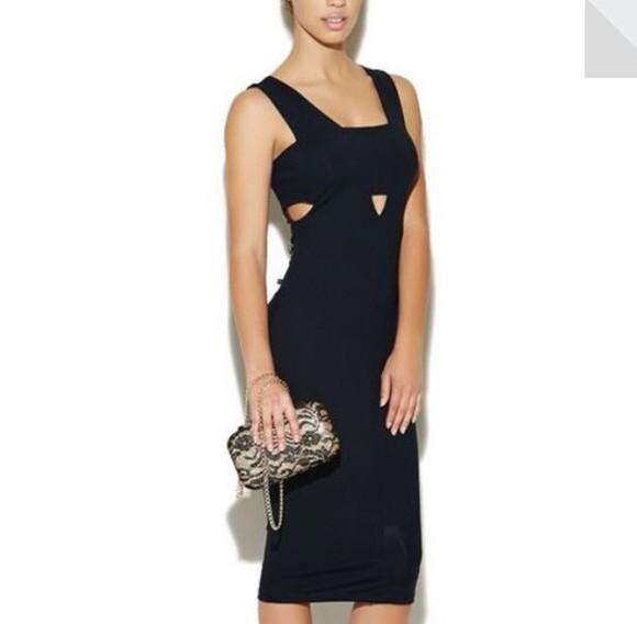 dress cut-out dress black midi dress style