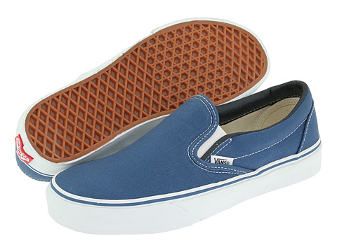 Vans Classic Slip-On™ Core Classics Navy (Canvas) - Zappos.com Free Shipping BOTH Ways