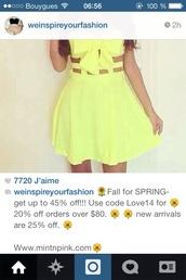 dress,yellow,cut,bow