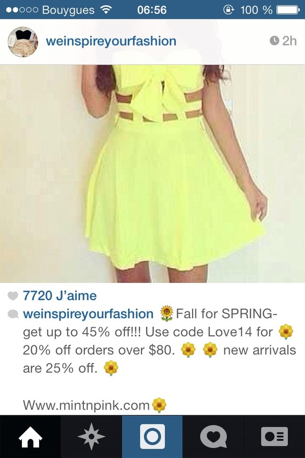 dress yellow cut bow