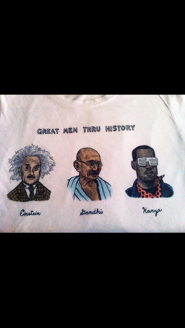 kanye west t-shirt shirt kanye west ghandi einstein