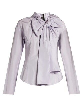blouse light purple top