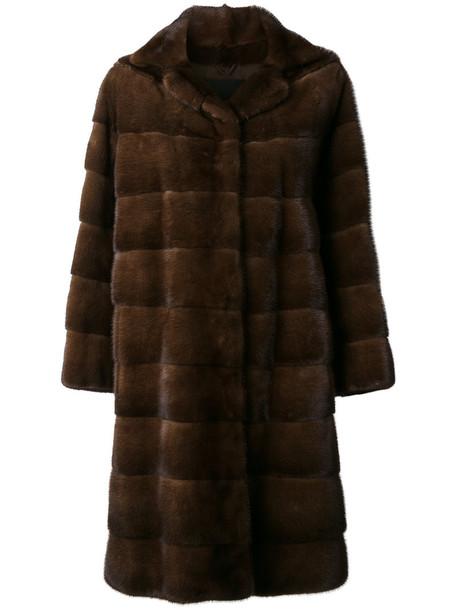 Liska coat fur women silk brown