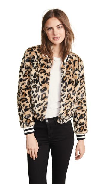 girl fur faux fur black jacket