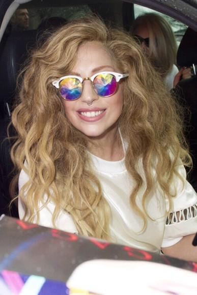 lady gaga sunglasses hippie glasses