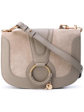 women bag suede grey