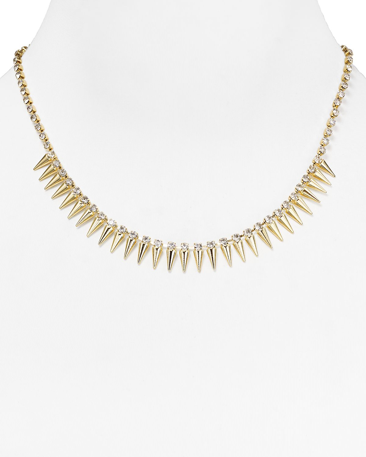 ABS by Allen Schwartz Modern Savage Spike Necklace, 17"