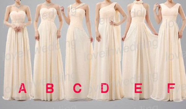 bridesmaid weddings clothes dress wedding party dress