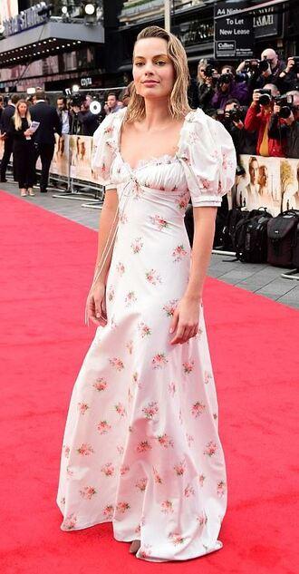 dress maxi dress red carpet dress margot robbie