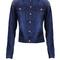 Blue jacket - jacket sparkle studded denim | ustrendy