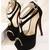 [Pre Order] SH2129 T-Strap Velvet Heel Sandal