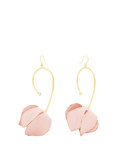MARNI earrings pink jewels