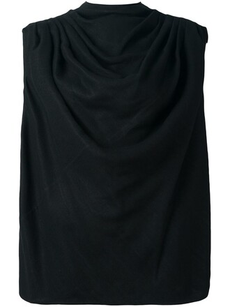 top draped top draped black