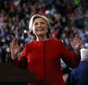 jacket,blazer,red,red suit,suit,hillary clinton,first lady outfits