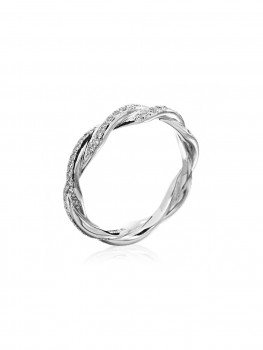 Michael B. - Platinum Double Twist Eternity Band - at - London Jewelers