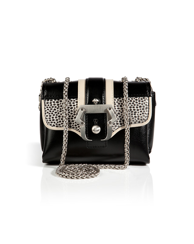 Leather/Horsehair Kate Crossbody Bag in Black from PAULA CADEMARTORI | Luxury fashion online | STYLEBOP.com