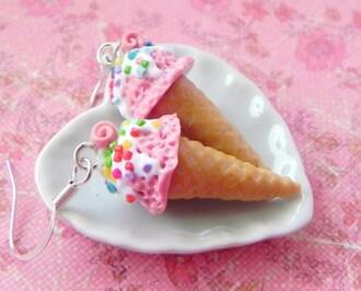 jewels ice cream earings