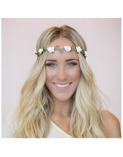 Flower crown headband crowns hair band floral hair accessories