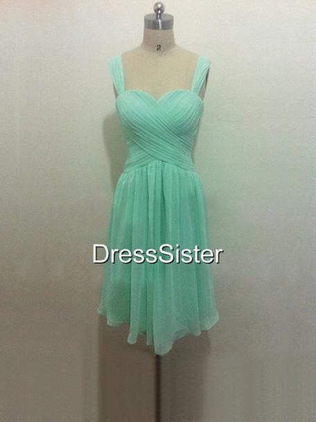 Mint green short bridesmaid dresses memes for Mint bridesmaid dresses wedding