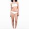 White criss cross bikini bottom