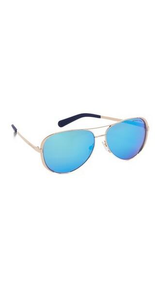 rose gold rose sunglasses gold blue
