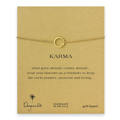 small karma circle bracelet, gold dipped - Dogeared