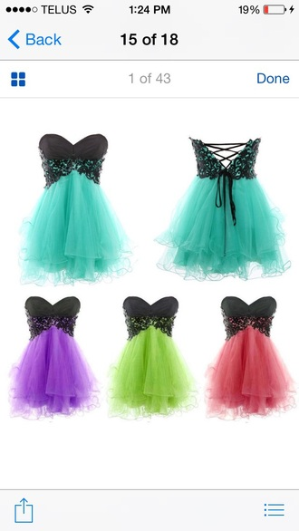 dress green tulle skirt lace tumblr inspired graduation beautiful cute black