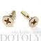 Fake gauge earrings: screw shaped faux plug earrings in shiny gold
