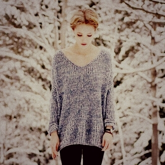 white cute sweater vintage weheartit lovely beautiful blue blonde hair oversized sweater braided watch