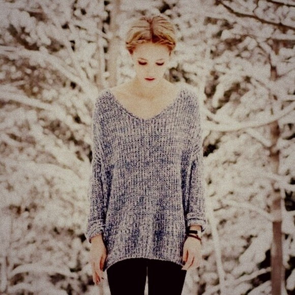 sweater beautiful blue cute weheartit blonde hair vintage oversized sweater braided white watch lovely
