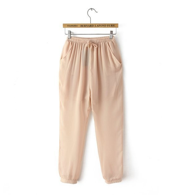 The nude gauze pants
