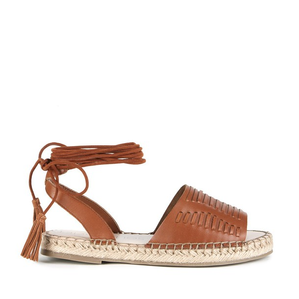 Sole Society Clover Lace Up Espadrille - Cognac-5