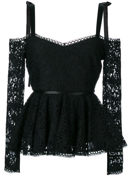 top women spandex cotton black