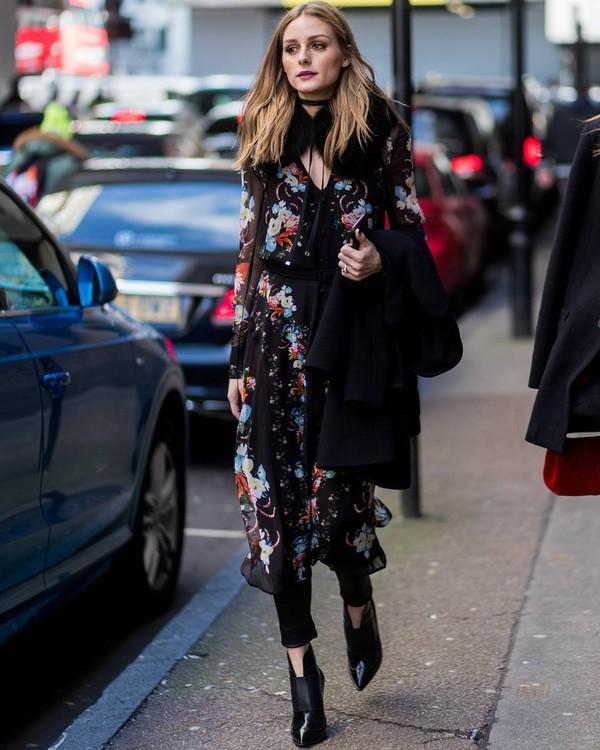 Dress: tumblr, midi dress, streetstyle, olivia palermo ...