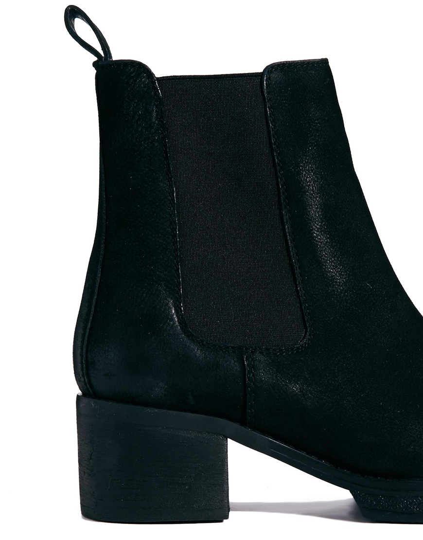 ASOS ROYAL Leather Chelsea Ankle Boots at asos.com